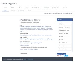 B2 level English language practice tests