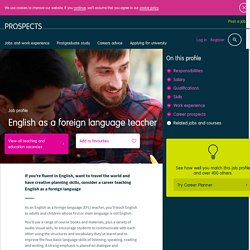 English as a foreign language teacher job profile
