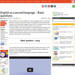 English as a second language - Basic questions %%page