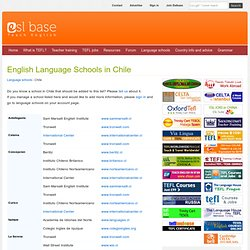 English Language Schools in Chile