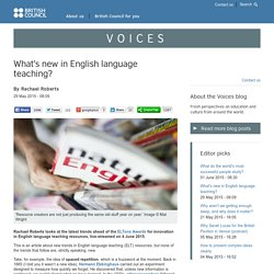 What's new in English language teaching?