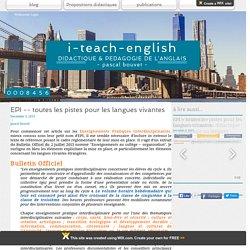 toutes les pistes pour les langues vivantes