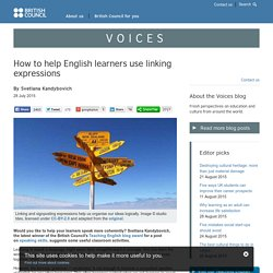 How to help English learners use linking expressions