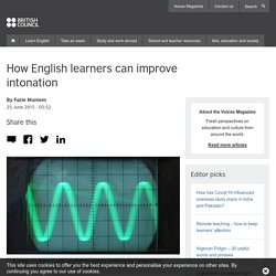 How English learners can improve intonation
