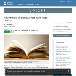 How to help English learners read more quickly