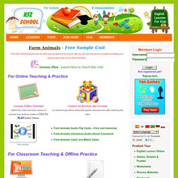 Free Sample English Lessons for Kids KizSchool.com