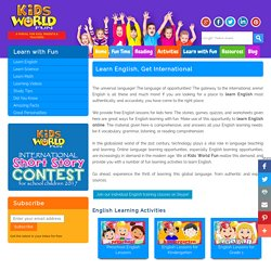 Learn English Online, Free English Lessons For Kids, English Learning With Fun