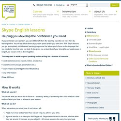 Skype English Lessons with the London School of English - London School of English