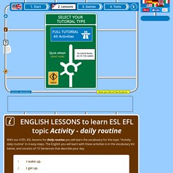 4 English lessons to learn Daily routine free online