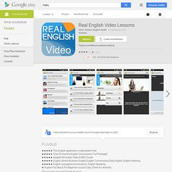 Real English Video Lessons – Applications Android sur GooglePlay