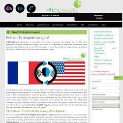French To English Linguist