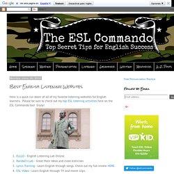 The ESL Commando: Best English Listening Websites