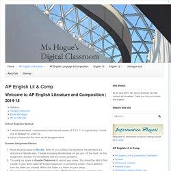 AP English Lit & Composition Ms Hogue