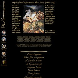 English Literature: Restoration and 18th-Century (1660-1785)