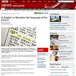 Is English or Mandarin the language of the future?