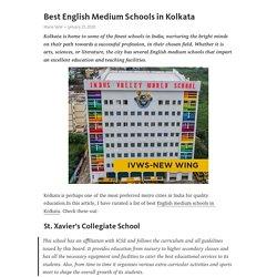 Best English Medium Schools in Kolkata
