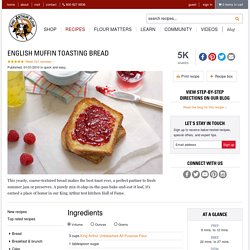English Muffin Toasting Bread Recipe