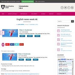 English news week 46