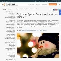 Christmas Word List-reading