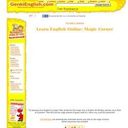 Learn English Online: Mr Monkey's Magic Corner