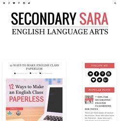 12 Ways to Make English Class Paperless - Secondary Sara