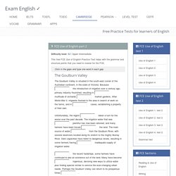 FCE Use of English Part 2: free practice test