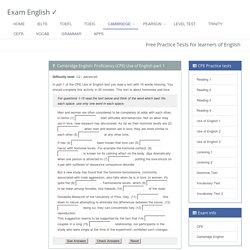 CPE Use of English part 1 - free online practice test
