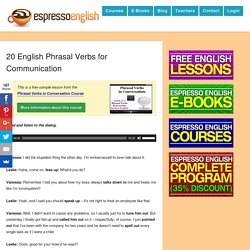 20 English Phrasal Verbs for Communication