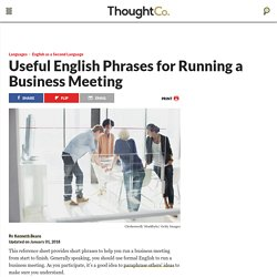 Useful English Phrases for Running a Business Meeting