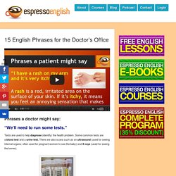 15 English Phrases for the Doctor's Office