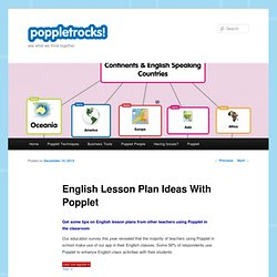 English Lesson Plan Ideas With Popplet