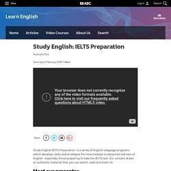 Study English: IELTS Preparation - Learn English - Education