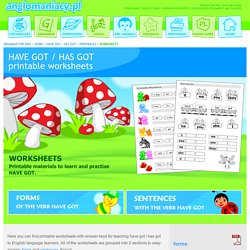 Printable worksheets (verb have got)