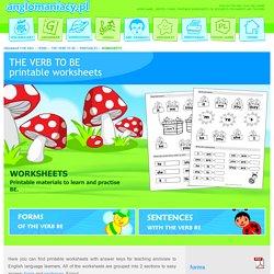 Printable worksheets (verb be)