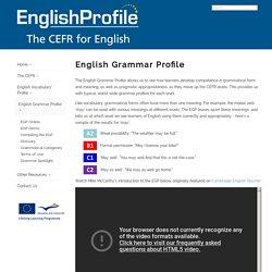 English Profile - English Grammar Profile