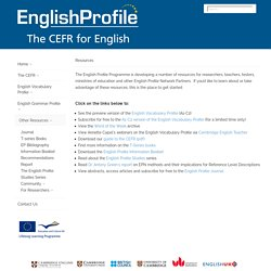 English Profile - Other Resources