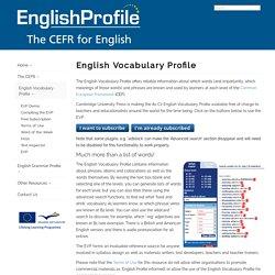 English Profile - English Vocabulary Profile