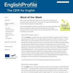English Profile - Word of the Week