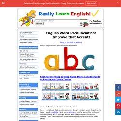 English Word Pronunciation: Improve that Accent!