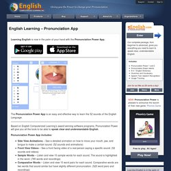 Pronunciation Power Software » Pronunciation Power App (iPhone, iPad, iPod touch)