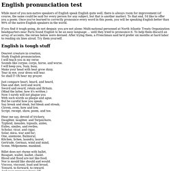 English pronunciation test