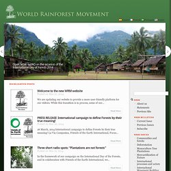 WRM English | World Rainforest Movement