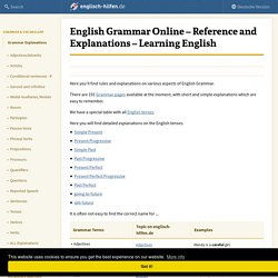 English Grammar Online - Rules and Explanations