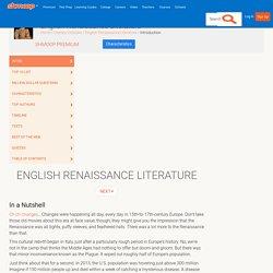 English Renaissance Literature
