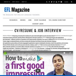Free English resources for Job interview