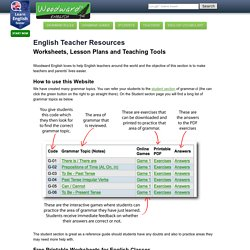 English Teacher Resources and Materials
