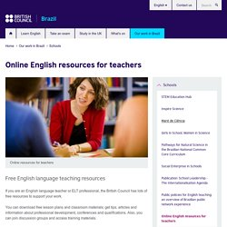 Online English resources for teachers