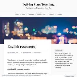 English resources – Defying Stars Teaching.