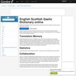 English-Scottish Gaelic Dictionary, Glosbe
