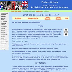 English Social Customs